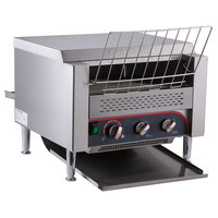 Avatoast T3600D Commercial 14 1/2 inch Wide Conveyor Toaster with 3 inch Opening - 240V, 3600W, 1200 Slices per Hour
