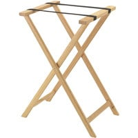 Aarco TS-1 Natural Folding Wood Tray Stand - 31 inch