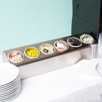 Steril-Sil LTC-6 In-Line Countertop Stainless Steel 6-Cylinder Flatware Organizer