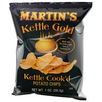 Martin's Kettle Gold 1 oz. Bag of Kettle Cook'd Potato Chips - 30/Case