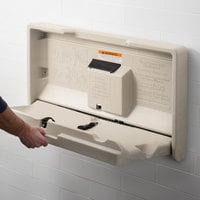 Lavex Janitorial Cream Horizontal Baby Changing Station / Table