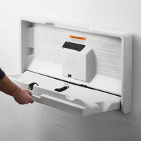 Lavex Janitorial White Granite Horizontal Baby Changing Station / Table