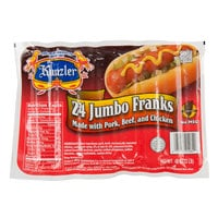Kunzler 8/1 Retail Regular Franks   - 96/Case