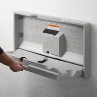 Lavex Janitorial Gray Horizontal Baby Changing Station / Table