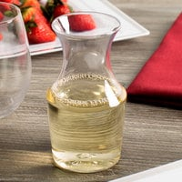 WNA Comet RESCF1264 Reserv 12 oz. Clear Plastic Disposable Wine Carafe - 16/Pack