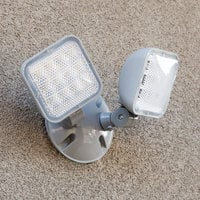 Lavex Industrial Outdoor / Indoor Double Head Remote LED Emergency Light - 2 Watts, 9.6V Compatibility