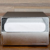 Vollrath 6513-06 Black One Sided Countertop Minifold Napkin Dispenser with Chrome Faceplate