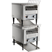 Avatoast T1402S Double Stacked Commercial 10 inch Wide Conveyor Toaster with 3 inch Opening - 120V, 3500W, 600 Slices per Hour