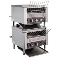 Avatoast T3600D2S Double Stacked Commercial Conveyor Toaster with 3 inch Opening - 240V, 7200W, 2400 Slices per Hour