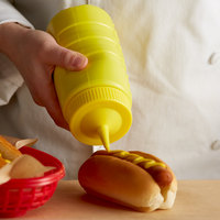 Vollrath 4916-08 Traex® 16 oz. Yellow Single Tip Ridged Wide Mouth Squeeze Bottle