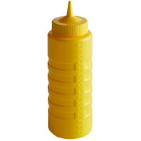 Vollrath 4932-08 Traex® 32 oz. Yellow Single Tip Ridged Wide Mouth Squeeze Bottle