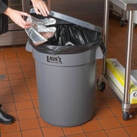 Lavex Janitorial 32 Gallon Gray Round Commercial Trash Can Lid