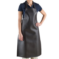 Choice 40 inch x 25 inch Brown Vinyl Dishwashing Apron- 38 Mil