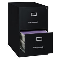 Hirsh Industries 14419 Black Two-Drawer Vertical Legal File Cabinet - 18 inch x 26 1/2 inch x 28 3/8 inch