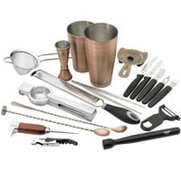 Barfly M37102ACP Deluxe 19-Piece Antique Copper-Plated Cocktail Kit