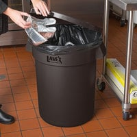 Lavex Janitorial 32 Gallon Brown Round Commercial Trash Can Lid