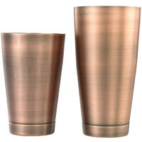 Barfly M37009ACP 28 oz. & 18 oz. Antique Copper-Plated 2-Piece Boston Cocktail Shaker