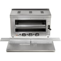 Cooking Performance Group S-36-SB-N 36 inch Natural Gas Infrared Salamander Broiler with 36 inch Range Mounting Bracket - 36,000 BTU