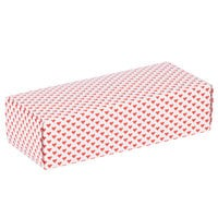 8 7/8 inch x 3 3/4 inch x 2 3/8 inch 1-Piece 2 lb. Valentine's Day Heart Candy Box - 250/Case