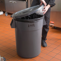 Lavex Janitorial 44 Gallon Gray Round Commercial Trash Can Lid