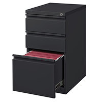 Hirsh Industries 19322 Charcoal Mobile Pedestal Letter File Cabinet with 2 Box Drawers and 1 File Drawer - 15 inch x 19 7/8 inch x 27 3/4 inch