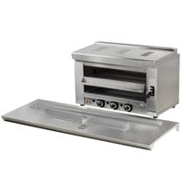 Cooking Performance Group S-36-SB-L 36 inch Liquid Propane Infrared Salamander Broiler with 60 inch Range Mounting Bracket - 36,000 BTU