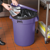 Lavex Janitorial 32 Gallon Purple Round Commercial Trash Can Lid