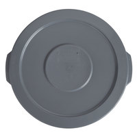 Lavex Janitorial 10 Gallon Gray Round Commercial Trash Can Lid