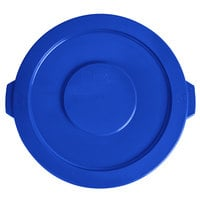 Lavex Janitorial 20 Gallon Blue Round Commercial Trash Can Lid