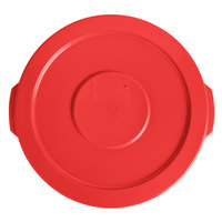 Lavex Janitorial 10 Gallon Red Round Commercial Trash Can Lid