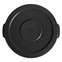 Lavex Janitorial 10 Gallon Black Round Commercial Trash Can Lid
