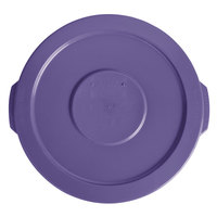 Lavex Janitorial 10 Gallon Purple Round Commercial Trash Can Lid