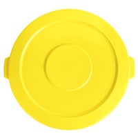 Lavex Janitorial 44 Gallon Yellow Round Commercial Trash Can Lid