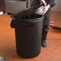 Lavex Janitorial 44 Gallon Brown Round Commercial Trash Can Lid