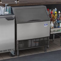 Manitowoc UDF-0310W NEO 30 inch Water Cooled Undercounter Diced Ice Machine with 100 lb. Bin - 115V, 295 lb.