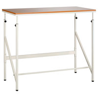 Safco 1957BH Elevate 48 inch x 24 inch Beech / Cream Laminate Standing Height Desk