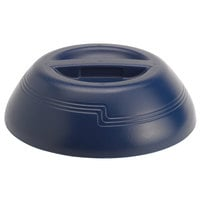 Cambro MDSD9497 Shoreline Collection Navy 10 1/4 inch Insulated Plastic Dome Plate Cover - 12/Case