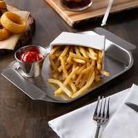 Tablecraft 20005 Better Burger 7 inch x 10 inch Stainless Steel Serving Tray