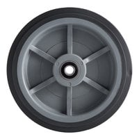 8 inch Fixed Wheel for Choice 125 lb. Mobile Ice Bins