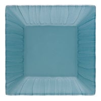 Schonwald 9361862-15703 Character 4 3/4 inch Aqua Square Glass Plate - 6/Case