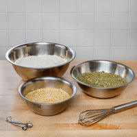 Choice Standard Weight Stainless Steel Mixing Bowls - 3/Set