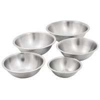 Heavyweight Stainless Steel Mixing Bowls - 5/Set