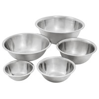 Choice Standard Weight Stainless Steel Mixing Bowls - 5/Set