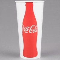 Solo RP4TCB-K1038 Coke® 22-24 oz. Poly Paper Cold Cup - 1000/Case