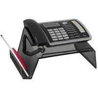 Rolodex 22151 10 inch x 11 1/4 inch x 5 1/4 inch Black Mesh Telephone Desk Stand
