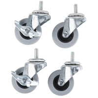 Manitowoc K-00064 2 1/2 inch Swivel Casters, 2 with Brakes - 4/Set