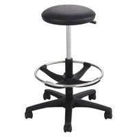 Safco 3436BL Black Extended-Height Lab Stool