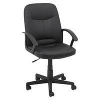 OIF LB4219 Black Leather Swivel Office Chair