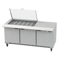Beverage-Air SPE72HC-18M-CL Elite 72 inch 3 Door Mega Top Refrigerated Sandwich Prep Table