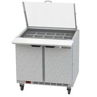 Beverage-Air SPE36HC-15M-CL Elite 36 inch 2 Door Mega Top Refrigerated Sandwich Prep Table